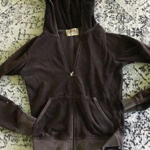Juicy size m brown hooded sweater